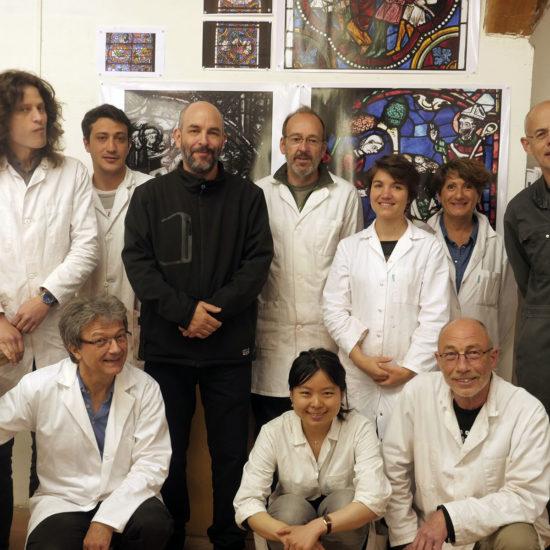 Diego Rodriguez Matta junto al curso profesional de Jean Marie Braguy en el CIV.